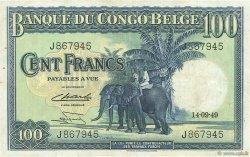 100 Francs CONGO BELGE  1949 P.17d TTB