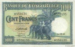 100 Francs CONGO BELGE  1949 P.17d TTB+