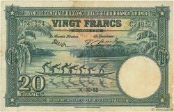 20 Francs CONGO BELGE  1952 P.23 TTB