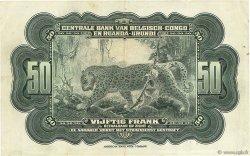 50 Francs CONGO BELGE  1952 P.24a TTB