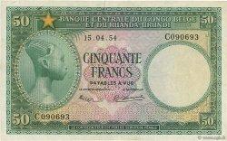 50 Francs CONGO BELGE  1954 P.27a TTB