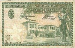 20 Francs CONGO BELGE  1953 P.26 TTB