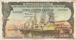 500 Francs CONGO BELGE  1957 P.34 TTB