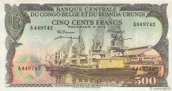 500 Francs CONGO BELGE  1957 P.34 TTB à SUP