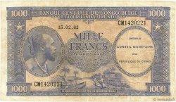 1000 Francs CONGO (RÉPUBLIQUE)  1962 P.02a TB