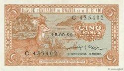 5 Francs RWANDA BURUNDI  1960 P.01 SUP à SPL