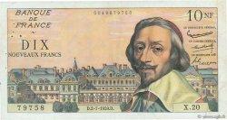 10 Nouveaux Francs RICHELIEU FRANCE  1959 F.57.02