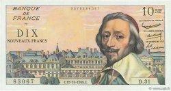 10 Nouveaux Francs RICHELIEU FRANCE  1959 F.57.03 SUP