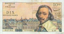 10 Nouveaux Francs RICHELIEU FRANCE  1959 F.57.03 TTB