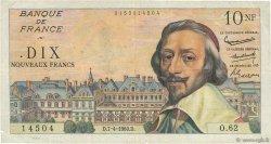 10 Nouveaux Francs RICHELIEU FRANCE  1960 F.57.06 TB+