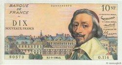 10 Nouveaux Francs RICHELIEU FRANCE  1960 F.57.10 pr.SUP