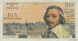 10 Nouveaux Francs RICHELIEU FRANCE  1961 F.57.14 TB