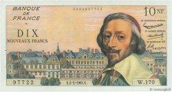 10 Nouveaux Francs RICHELIEU FRANCE  1961 F.57.14 SUP à SPL