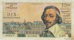 10 Nouveaux Francs RICHELIEU FRANCE  1962 F.57.17 TB+