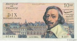 10 Nouveaux Francs RICHELIEU FRANCE  1962 F.57.18 TTB