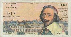 10 Nouveaux Francs RICHELIEU FRANCE  1962 F.57.20 TB+