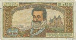 50 Nouveaux Francs HENRI IV FRANCE  1961 F.58.06 B