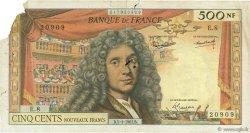 500 Nouveaux Francs MOLIÈRE FRANCE  1961 F.60.03 AB