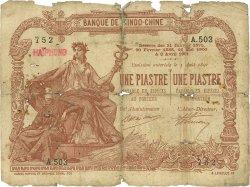 1 Piastre - 1 Piastre INDOCHINE FRANÇAISE Haïphong 1909 P.013b AB