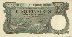5 Piastres Haïphong INDOCHINE FRANÇAISE  1915 P.016b pr.SUP