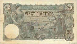 20 Piastres INDOCHINE FRANÇAISE Haïphong 1917 P.017b TB