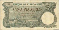 5 Piastres Haïphong INDOCHINE FRANÇAISE  1920 P.019 TB à TTB