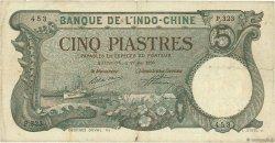 5 Piastres INDOCHINE FRANÇAISE Haïphong 1920 P.019 TB+