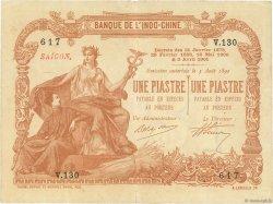 1 Piastre - 1 Piastre Saïgon INDOCHINE FRANÇAISE  1903 P.034a TTB