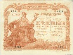1 Piastre - 1 Piastre Saïgon INDOCHINE FRANÇAISE  1909 P.034b SUP+