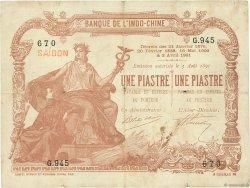 1 Piastre - 1 Piastre Saïgon INDOCHINE FRANÇAISE  1909 P.034b TTB