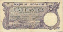 5 Piastres Saïgon INDOCHINE FRANÇAISE  1913 P.037b TTB