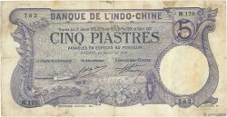 5 Piastres Saïgon INDOCHINE FRANÇAISE  1916 P.037b B