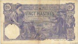 20 Piastres Saïgon INDOCHINE FRANÇAISE  1913 P.038b TB+