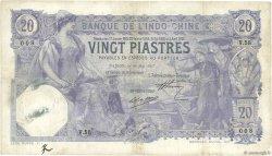20 Piastres Saïgon INDOCHINE FRANÇAISE  1917 P.038b TB