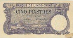 5 Piastres Saïgon INDOCHINE FRANÇAISE  1920 P.040 SUP