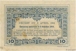 10 Cents INDOCHINE FRANÇAISE  1919 P.043 SUP+