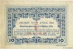 10 Cents INDOCHINE FRANÇAISE  1919 P.044 TTB