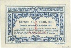 10 Cents INDOCHINE FRANÇAISE  1919 P.044 pr.SPL