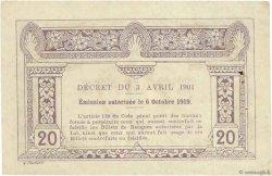 20 Cents INDOCHINE FRANÇAISE  1919 P.045b TTB+