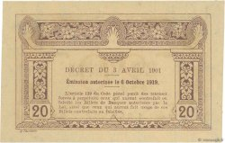 20 Cents INDOCHINE FRANÇAISE  1919 P.045b pr.NEUF