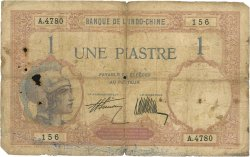 1 Piastre INDOCHINE FRANÇAISE  1927 P.048b AB