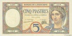 5 Piastres INDOCHINE FRANÇAISE  1926 P.049a TTB+