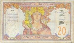 20 Piastres INDOCHINE FRANÇAISE  1928 P.050 B