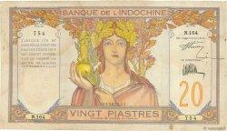 20 Piastres INDOCHINE FRANÇAISE  1928 P.050 TB