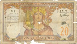 20 Piastres INDOCHINE FRANÇAISE  1928 P.050 AB