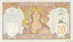 20 Piastres INDOCHINE FRANÇAISE  1928 P.050 TTB