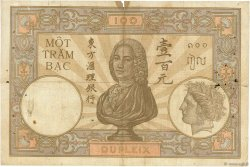 100 Piastres INDOCHINE FRANÇAISE  1927 P.051b B