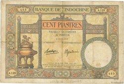 100 Piastres INDOCHINE FRANÇAISE  1936 P.051d pr.B