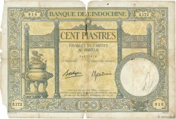 100 Piastres INDOCHINE FRANÇAISE  1936 P.051d AB