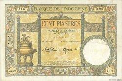 100 Piastres INDOCHINE FRANÇAISE  1936 P.051d TTB